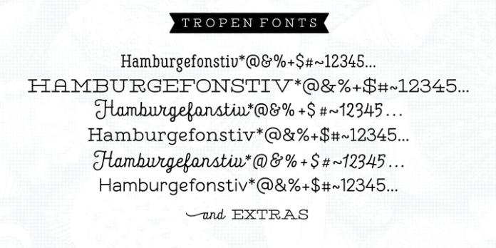 Tropen Font Family