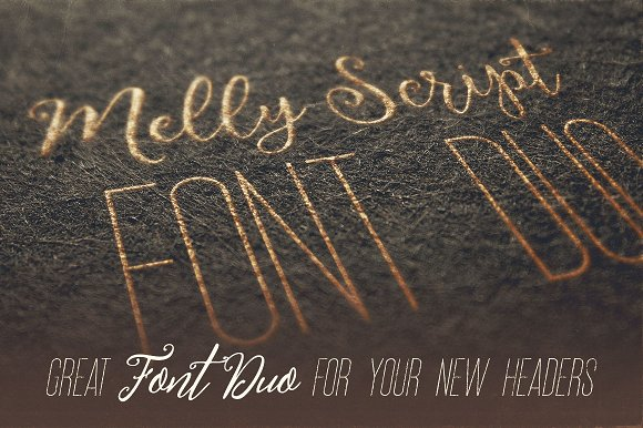 Melly Script Font Duo