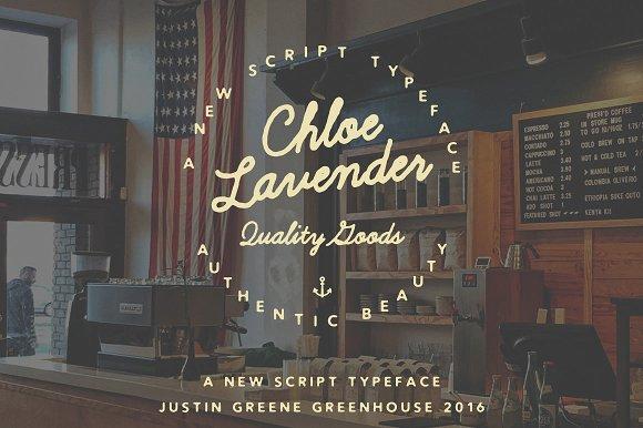 Chloe Lavender ~ Hand Drawn Script