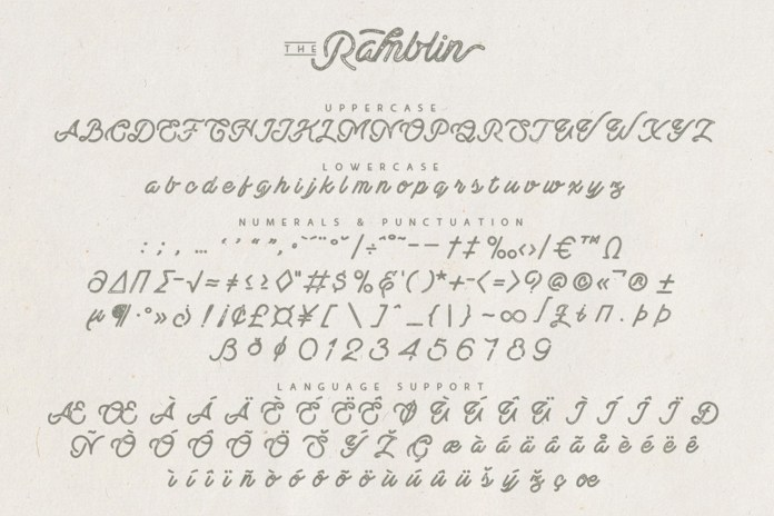 Ramblin Font Duo
