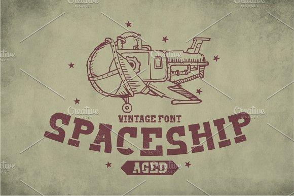 Spaceship Vintage Label Typeface