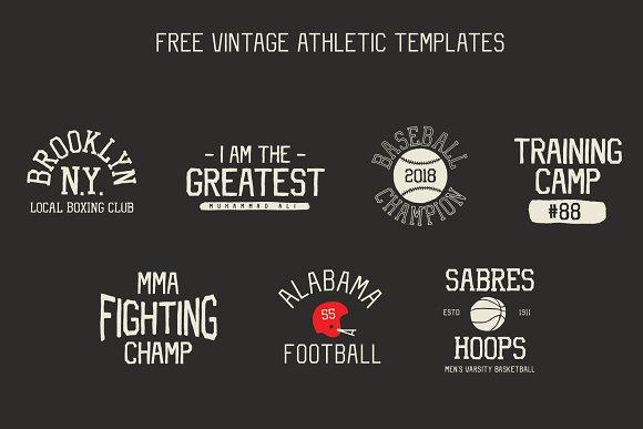 Vintage Athletic - Block Typeface