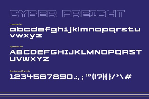 Cyber Freight - Industrial Sans Font