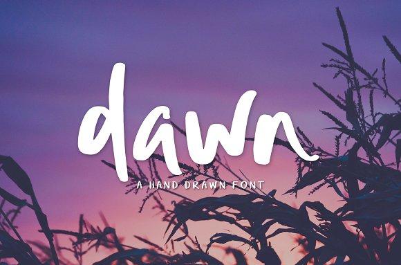 Dawn | Hand Drawn Font