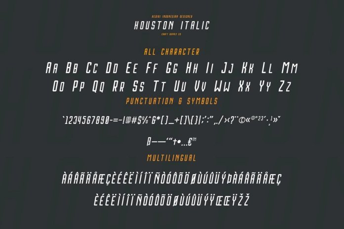 Houston Italic Font Family