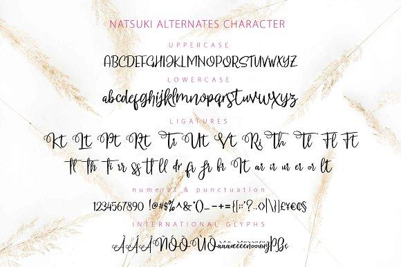 NATSUKI Script Fonts