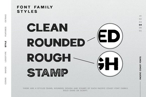 PACIFIC COAST Font + Extras