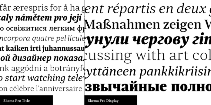 Skema Pro Display Font Family
