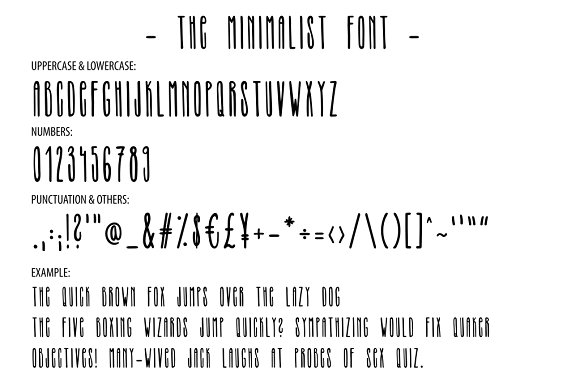 THE MINIMALIST - skinny tall font