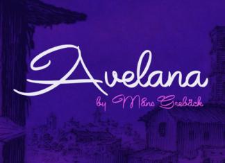 Avelana Script Font Family