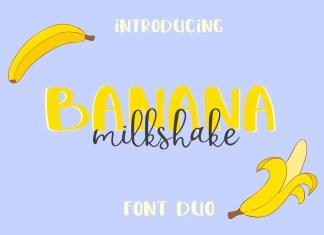 Banana Milshake Script Font