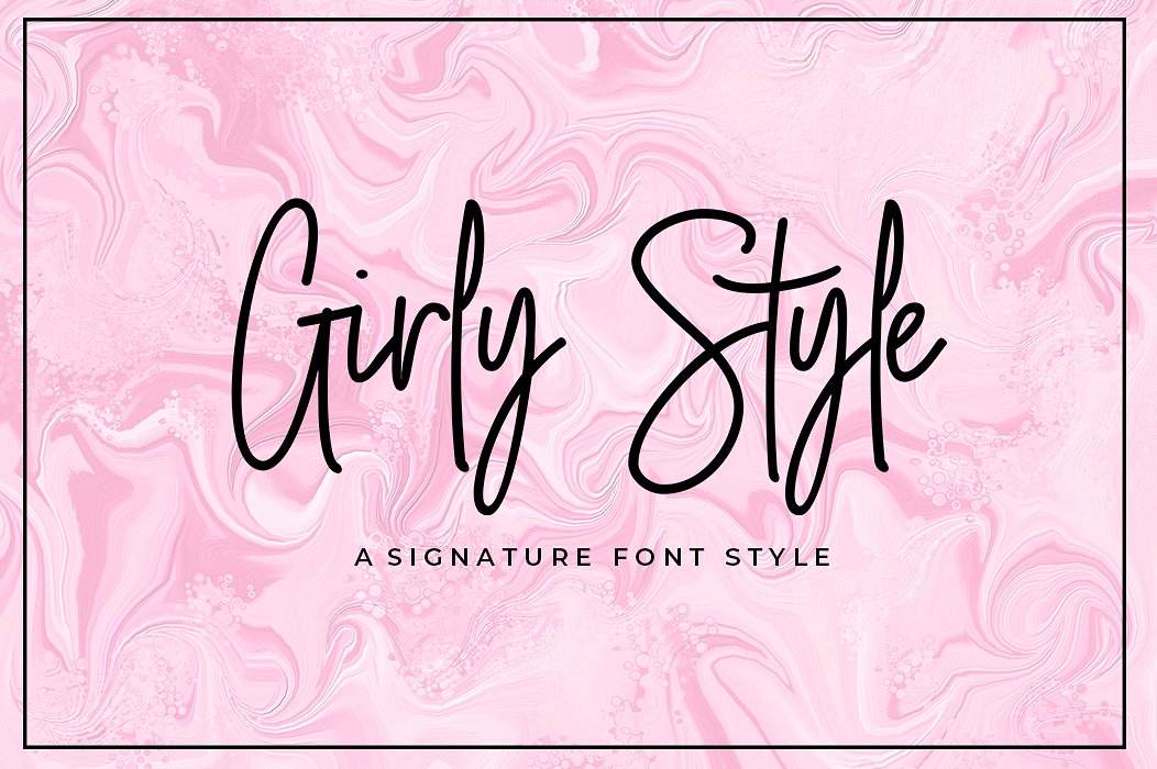 Download Girly Style Script Font - iFonts.xyz