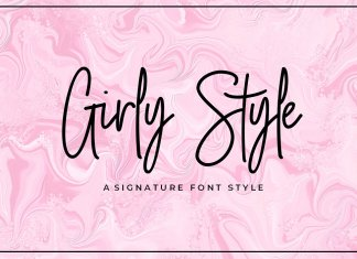 Girly Style Script Font