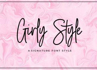 Girly Style Script Font