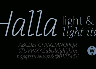 Halla Font Family