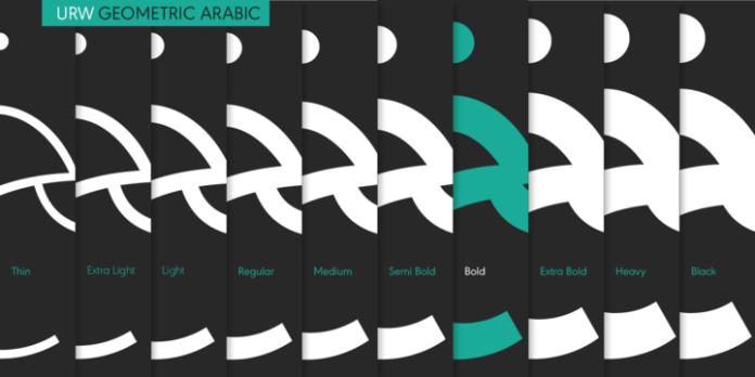 URW Geometric Arabic Font Family