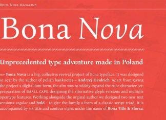 Bona Nova Font Serif