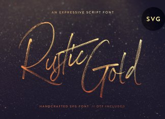 CM - Rustic Gold SVG Brush Script