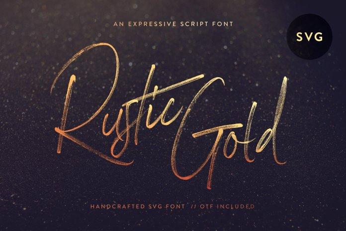 CM - Rustic Gold SVG Brush Script