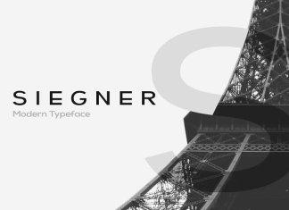CreativeMarket SIEGNER - Modern Typeface + WebFont