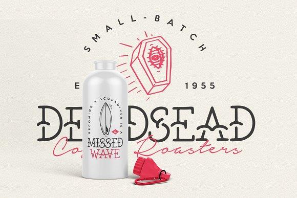CreativeMarket The Bearded Sailor - Tattoo Font