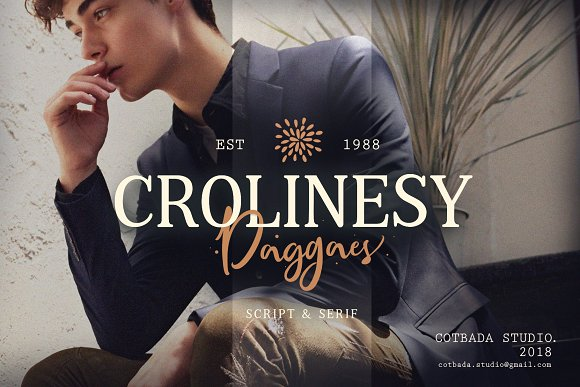 Crolinesy Daggaes Font Duo