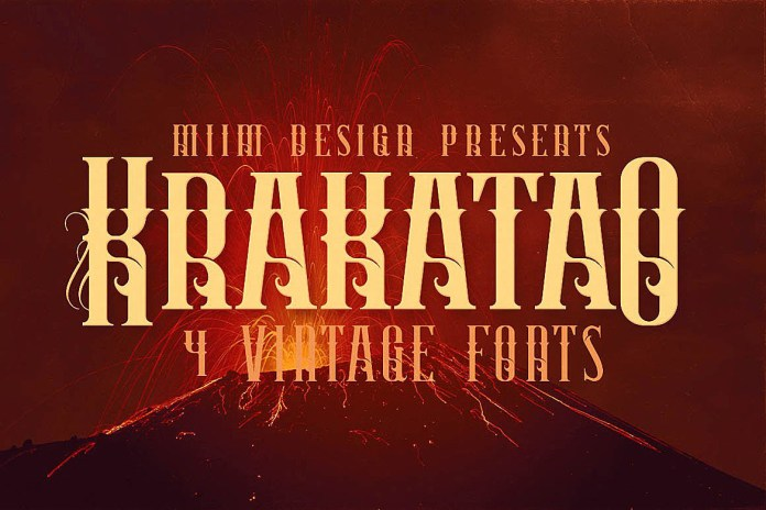 Fontbundles - Krakatao - Vintage Font