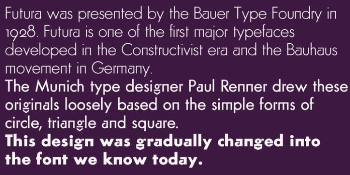 Futura Classic Font