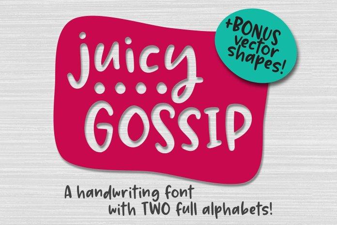 Juicy Gossip Font
