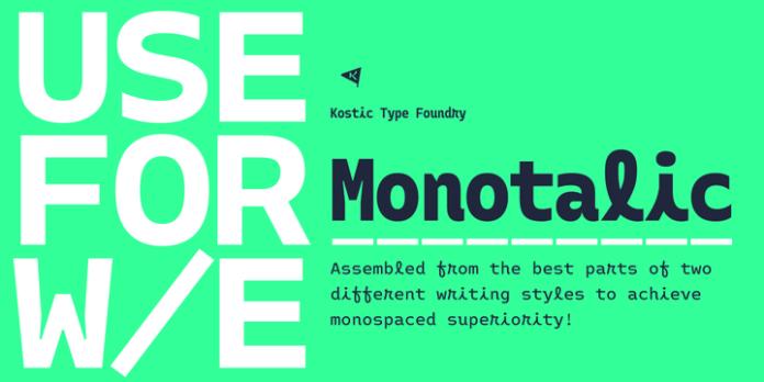 Monotalic Font Family 12