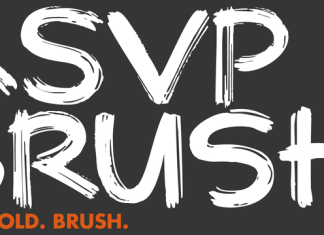 RSVP Brush Font Script