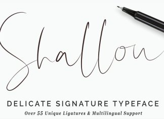 Shallou Signature Script Typeface Font