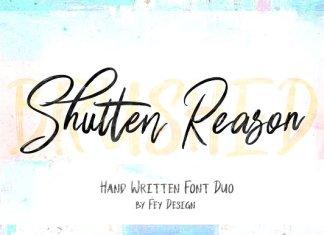 Shutten Reason - Duo Handwritting Font