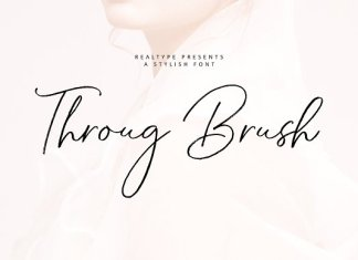 Throug Brush Font