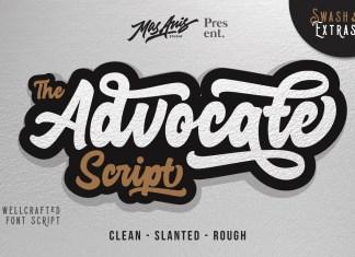 Advocate Script & Extras Script Font