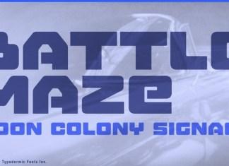 Battlemaze  Script Font