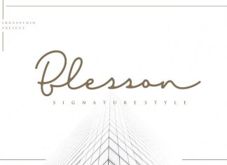 Blesson Signature Font