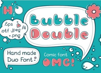 Bubble Double Duo font. Comic