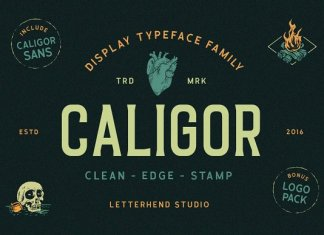 CALIGOR - Display Typeface Font
