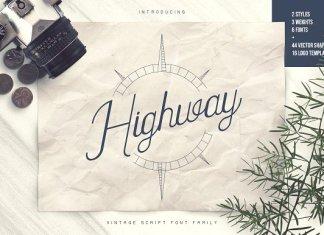 Highway Font Script