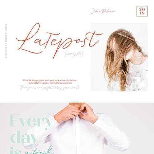 Latepost Script Font