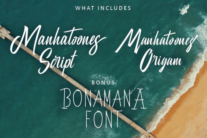 Manhatoone Script, 3 font Script Font
