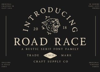 Road Race Font Family
