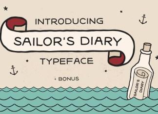 Sailors Diary Sans Tattoo Style Font