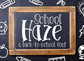 School Haze a Back-to-School Font Script