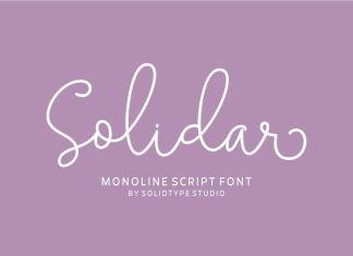 Solidar Monoline Script Font
