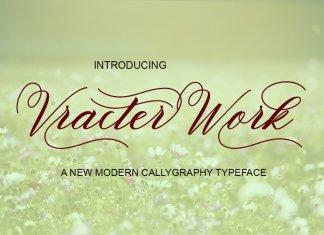 Vracter Work Font Script