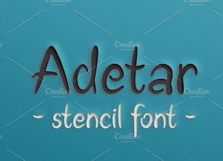 Adetar Stencil Font