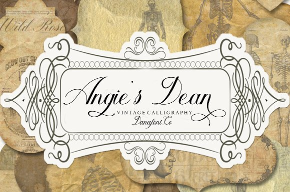 Angie's Dean Script Font