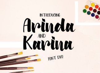 Arinda and Karina | Font Duo Script Font